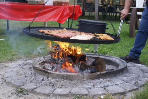 Grillabend in der Pension