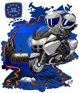 Grenzerfahrung 2010 - mit dem Motorrad an der deutschen Grenze entlang