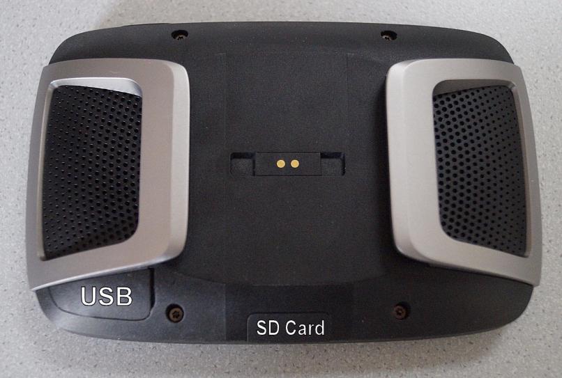 TomTom Rider 400 - Rückseite mit USB & SD-Card