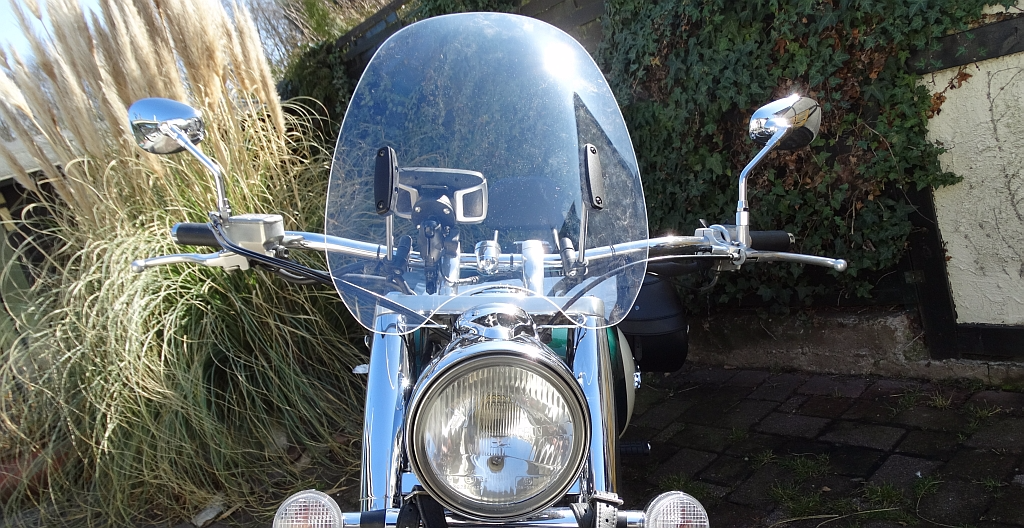 MRA Custom Windshield an unserer VT 1100 Aero