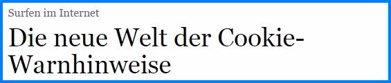 Cookies bei reisecruiser.de