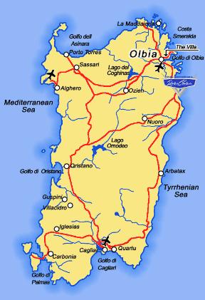 Motorradtouren auf Sardinien