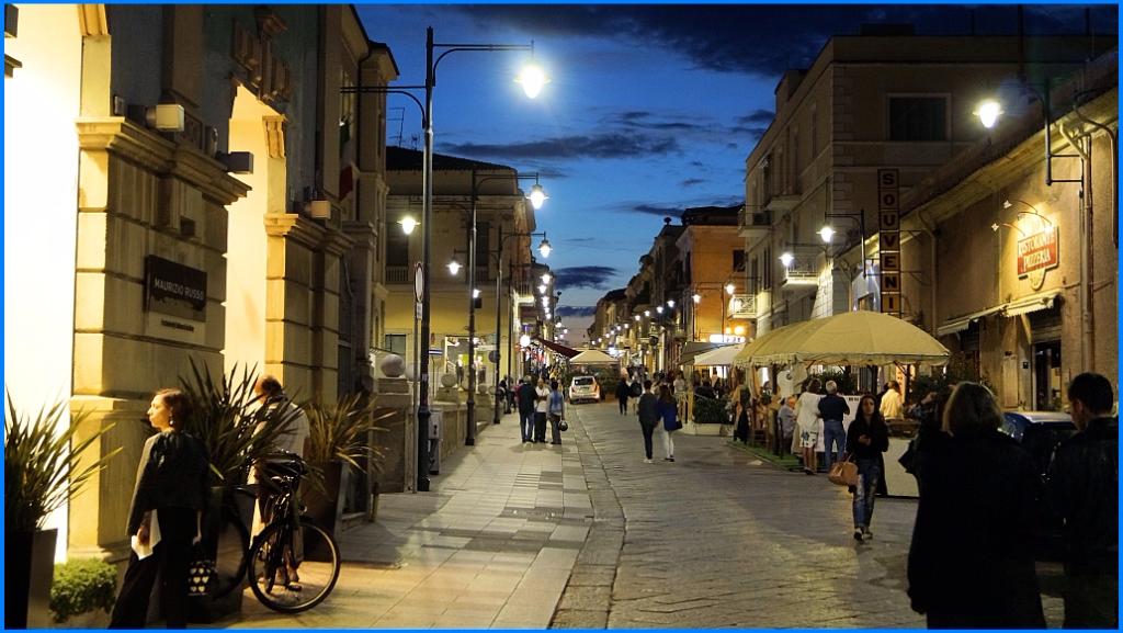 Die Corso Umberto I. in der Altstadt von Olbia
